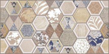 Уралкерамика (Alma Ceramica) Asteria Декор настенный (249х500х8,5) соты DWU09ATR404