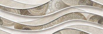 Уралкерамика (Alma Ceramica) Teira Декор настенный (246х740х10) волна DWU12TEA04R