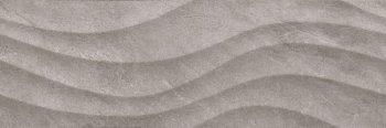 Уралкерамика (Alma Ceramica) Teira Плитка настенная (246х740х10) Rialto серая волна TWU12RLT17R