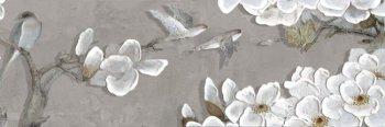 Уралкерамика (Alma Ceramica) Декор настенный (200х600х8) Poli цветы птицы DWU11POL027