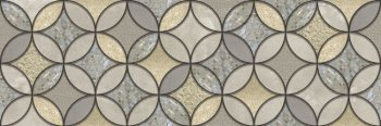 Уралкерамика (Alma Ceramica) Декор настенный (200х600х8) Greys орнамент круги DWU11GRS724