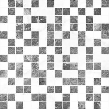 Laparet Crystal Мозаика серый+белый 30х30