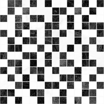 Laparet Crystal Мозаика чёрный+белый 30х30