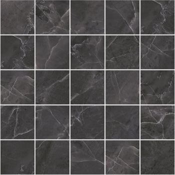 Laparet Olimpus Декор мозаичный чёрный MM34038 25х25