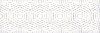 LВ-ceramics (Parisian) Декор Парижанка геометрия  Белый 1664-0183  60*20