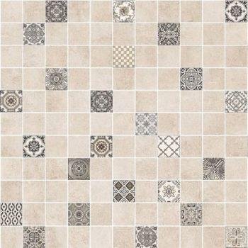 LВ-ceramics (Astrid) Плитка грес глазурованный Астрид мозаика бежевый 5032-0291  30*30