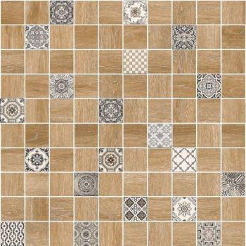 LВ-ceramics (Astrid) Плитка грес глазурованный  Астрид мозаика коричневый 5032-0290  30*30