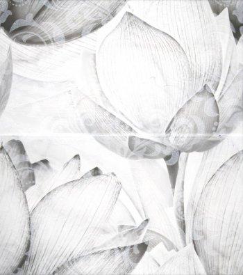 LВ-ceramics (Каррарский Мрамор) Декор Каррарский Мрамор  панно Цветы (2 шт в кмп) 1609-0019  45*50