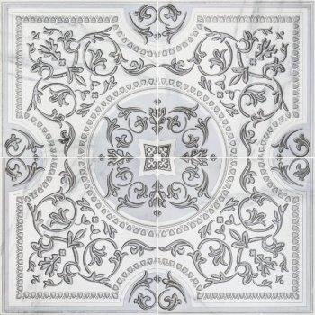 LВ-ceramics (Бьянка Каррара) Декор Бьянка Каррара панно напольное. (по 4 шт.в комп.) белый 3609-0006  90*90