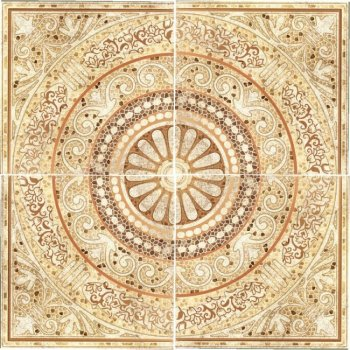 LВ-ceramics Декор Тенерифе панно напольное. (по 4 шт.в комп.) Бежевый 3609-0002  90*90