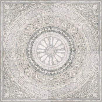 LВ-ceramics Декор Тенерифе панно нап. (4 шт. комп.)  Серый 3609-0005  90*90