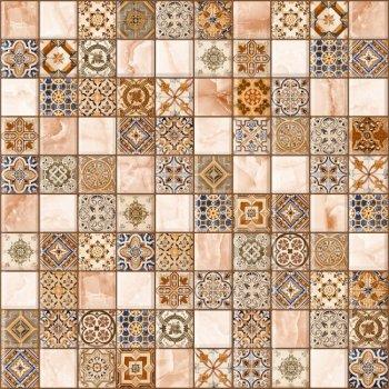 LВ-ceramics Плитка грес глазурованная Орнелла Коричневый 5032-0199  30*30