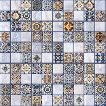 LВ-ceramics Плитка грес глазурованная Орнелла синий 5032-0200  30*30