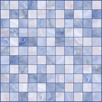 LВ-ceramics Плитка грес глазурованная мозаика Орнелла синий 5032-0202  30*30